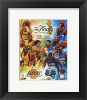 Framed '09 NBA Finals Match Up - Lakers / Magic