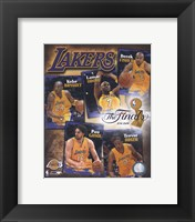 "Framed 2009 Finals - Lakers ""Big 5"""
