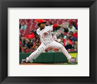 Framed Edinson Volquez - 2009 Pitching Action