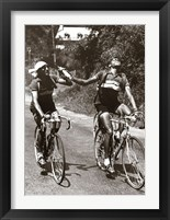 Framed Archrivals Gino Bartali and Fausto Coppi