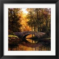 Framed Stone Bridge Over Water