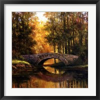Framed Stone Bridge Over Water