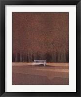 Framed Le Banc Blanc