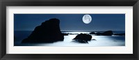 Framed Full Moon Over Laguna Beach, California