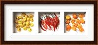 Framed Chilies and Patissons