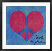 Framed Love And Peace