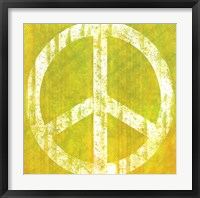 Framed Yellow Peace