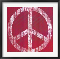 Framed Pink Peace
