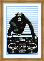 Framed Monkey Boom Box