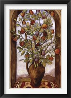 Framed Bouquet Of Figs, Pears And Pomegranates