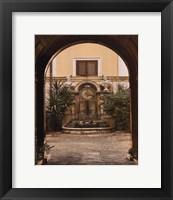 Framed Courtyard Clock