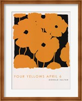Framed Four Yellows April 6