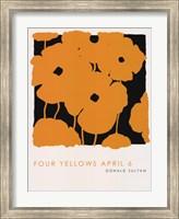 Framed Four Yellows April 6