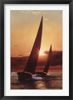 Framed Red Sails