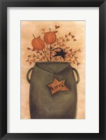 Pumpkin Sticks & Pips Framed Print