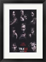 Framed True Blood - RARE Season 2 Character Poster