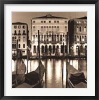 Framed Il Gran Canale di Notte