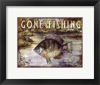 Framed Gone Fishing