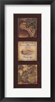 Wine Country Panel I Framed Print