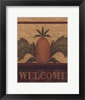 Framed Welcome Pineapple