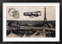 Framed Aeroplane de Paris