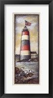 Summer Lighthouse Framed Print