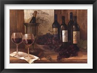 Framed Vintage Wine