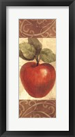 Patterned Apple Framed Print