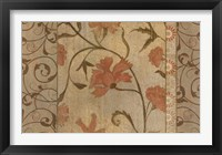 Framed Antique Floral Vine