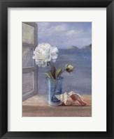 Coastal Floral I Framed Print