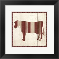 Framed Americana Cow