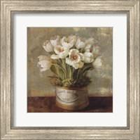 Framed Hatbox Tulips