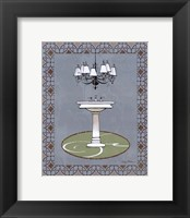 Chandelier Bath I Framed Print