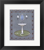 Chandelier Bath II Framed Print