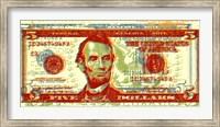 Framed Five Dollar Bill