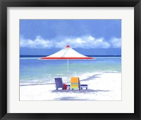 Framed Beach Life I