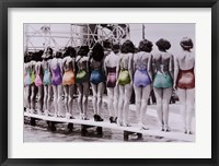 Framed Coney Island Lineup