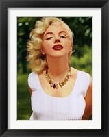 Framed Marilyn Monroe Amber Beads
