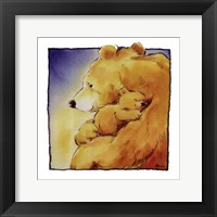 Framed Mother Bear's Love I