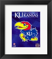 Framed 2009 University of Kansas Jayhawks Logo