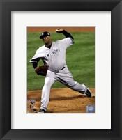 Framed C.C. Sabathia Game Four of the 2009 MLB World Series Action (#13)