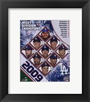 Framed 2009 Los Angeles Dodgers NL West Champions Team Composite