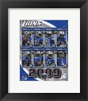 Framed 2009 Detroit Lions Team Composite