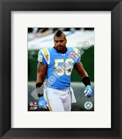 Framed Shawne Merriman 2009 Close Up