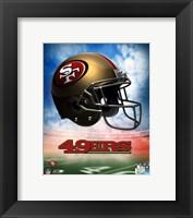 Framed 2009 San Francisco 49ers Team Logo