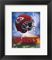 Framed 2009 Kansas City Chiefs Team Logo
