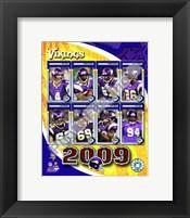 Framed 2009 Minnesota Vikings Team Composite