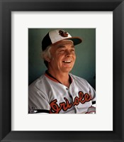 Framed Earl Weaver Close up