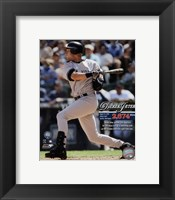 Framed Derek Jeter Most Career Hits by a Shortstop 2009 with Overlay