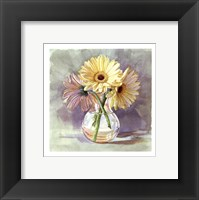 Framed Lemon Sherbert Gerbera